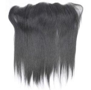 "Frontal 100% human hair VIRGIN REMY 12"""